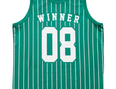 Green Letter Number And Stripe Print Vest Choies.com bester Fashion-Online-Shop aus China