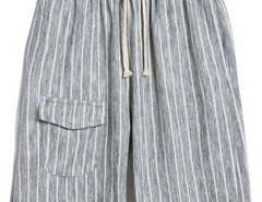 Gray Stripe Drawstring Waist Shorts Choies.com bester Fashion-Online-Shop aus China