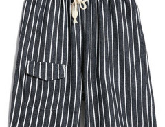 Monochrom Stripe Drawstring Waist Shorts Choies.com bester Fashion-Online-Shop aus China