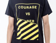 Black Contrast Letter And Stripe Print T-shirt Choies.com bester Fashion-Online-Shop aus China