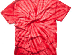 Red Tie Dye Print Round Neck T-shirt Choies.com bester Fashion-Online-Shop aus China