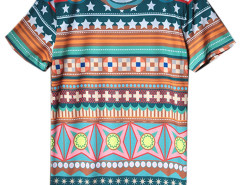 Multicolor Tribal Print Short Sleeve T-shirt Choies.com bester Fashion-Online-Shop aus China