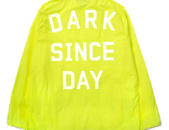 Fluorescent Yellow Letter Print Back Hooded Lightweight Jacket Choies.com bester Fashion-Online-Shop aus China