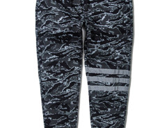 Green Camo Stripe Print Knee Tapered Jogger Pants Choies.com bester Fashion-Online-Shop aus China