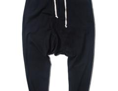 Black Drop Crotch Fit Drawstring Waist Joggers Choies.com bester Fashion-Online-Shop aus China