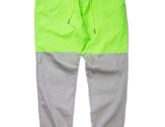 Green Yellow Color Block Drawstring Waist Tapered Jogger Pants Choies.com bester Fashion-Online-Shop aus China