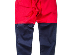 Red Color Block Drawstring Waist Tapered Jogger Pants Choies.com bester Fashion-Online-Shop aus China