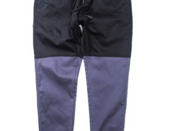 Black Color Block Drawstring Waist Tapered Jogger Pants Choies.com bester Fashion-Online-Shop aus China