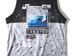 Color Block Digital Lunar Surface Print Vest Choies.com bester Fashion-Online-Shop aus China