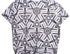 Monochrome Wonhot Print Short Sleeve T-shirt Choies.com bester Fashion-Online-Shop aus China