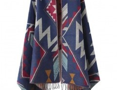 Geo-Tribal Cape with Fringed Trim Chicnova bester Fashion-Online-Shop aus China