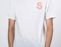 White Money Talk Print Short Sleeve T-shirt Choies.com bester Fashion-Online-Shop aus China