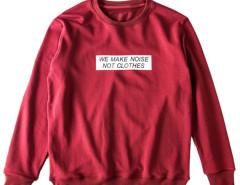 Burgundy Crew Neck Letter Patch Sweatshirt Choies.com bester Fashion-Online-Shop aus China