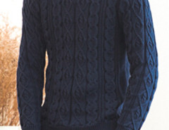 Navy Cable Knit Ribbed Jumper Choies.com bester Fashion-Online-Shop aus China