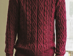 Burgundy Cable Knit Ribbed Jumper Choies.com bester Fashion-Online-Shop aus China