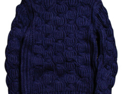Navy Chunky Knit Pattern Ribbed Jumper Choies.com bester Fashion-Online-Shop aus China