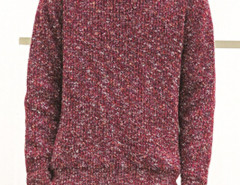 Burgundy Mixed Yarns Knitted Jumper Choies.com bester Fashion-Online-Shop aus China