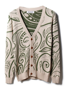Men's Beige V-neck Button Up Long Sleeve Knitted Cardigan Choies.com bester Fashion-Online-Shop aus China
