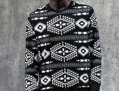 Black Contrast Totem Aztec Print Sweatshirt Choies.com bester Fashion-Online-Shop aus China