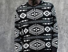 Black Contrast Totem Aztec Print Sweatshirt Choies.com bester Fashion-Online-Shop aus China