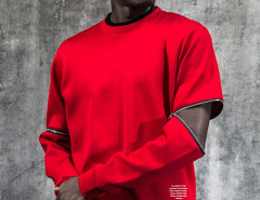 Red Zip Detail Long Sleeve Plain Sweatshirt Choies.com bester Fashion-Online-Shop aus China