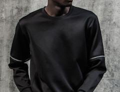 Black Zip Detail Long Sleeve Plain Sweatshirt Choies.com bester Fashion-Online-Shop aus China