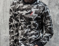 Camo Print Embroidery Zip Side Sweatshirt Choies.com bester Fashion-Online-Shop aus China