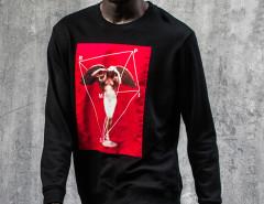 Black Geo Angel Patched Sweatshirt Choies.com bester Fashion-Online-Shop aus China