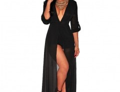 V-plunge Jumpsuit with Thigh Split Chicnova bester Fashion-Online-Shop aus China