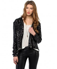 Sequined Coat with Hood Chicnova bester Fashion-Online-Shop aus China