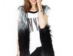 Faux Fur Vest in Shaggy Longhair Chicnova bester Fashion-Online-Shop aus China