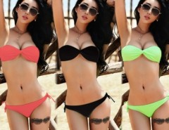2pcs Womens Sexy Padded Strapless Bandeau Bikini Beach Swimsuit Swimwear Cndirect bester Fashion-Online-Shop China