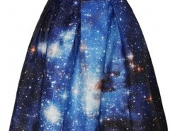 Flared Skirt with Starry Sky Print Chicnova bester Fashion-Online-Shop aus China