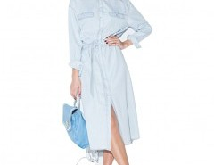 Denim Belted Shirt Dress Chicnova bester Fashion-Online-Shop aus China