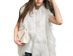 Faux Fur Vest in Shaggy Long Hair Chicnova bester Fashion-Online-Shop aus China