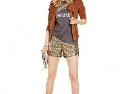 Metallic Shorts in All Over Sequin Chicnova bester Fashion-Online-Shop aus China