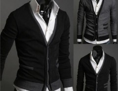 Men's Premium Stylish Mock Pockets Knit Coat Cardigan Cndirect bester Fashion-Online-Shop aus China