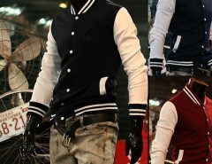 "2016 Trends Men's Trendy ""NY"" Baseball Uniform Slim Designed Fit Coat Jacket Outerwear 3 Colors M ~XXL Cndirect bester Fashion-Online-Shop aus China"