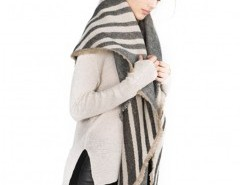 Striped Cape with Tassels Chicnova bester Fashion-Online-Shop aus China