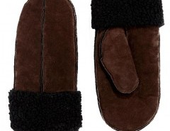 Suede Mitten in Coffee Chicnova bester Fashion-Online-Shop aus China