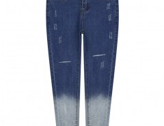 Ripped Skinny Jeans in Ombre Blue Chicnova bester Fashion-Online-Shop aus China
