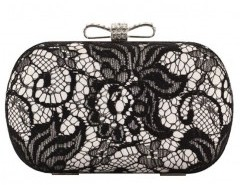 Bow Fastening Clutch with Lace Overlay Chicnova bester Fashion-Online-Shop aus China