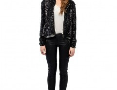 Sequin Embellished Coat with Hood Chicnova bester Fashion-Online-Shop aus China