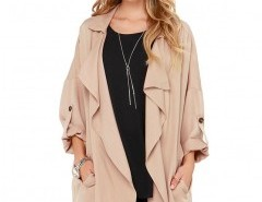Solid Waterfall Coat Chicnova bester Fashion-Online-Shop aus China
