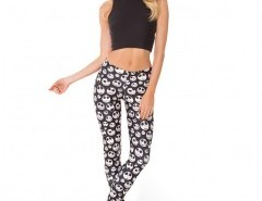 Leggings in All-over Skull Print Chicnova bester Fashion-Online-Shop aus China