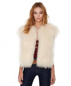 Cropped Vest in Faux Fur Chicnova bester Fashion-Online-Shop aus China