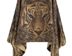 Fringed Cape with Print Chicnova bester Fashion-Online-Shop aus China