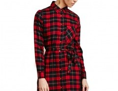 Red Check Dress with Belt Chicnova bester Fashion-Online-Shop aus China