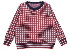 Long Sleeve Checked Sweater Chicnova bester Fashion-Online-Shop aus China