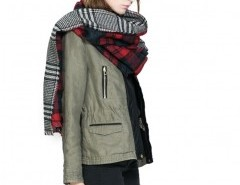 Color Block Plaid Cape Chicnova bester Fashion-Online-Shop aus China